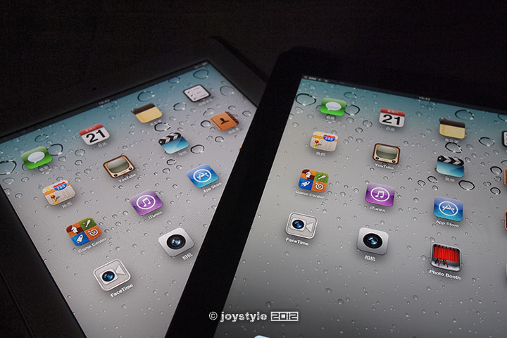 视网膜显示 iPad2 vs new iPad 对比