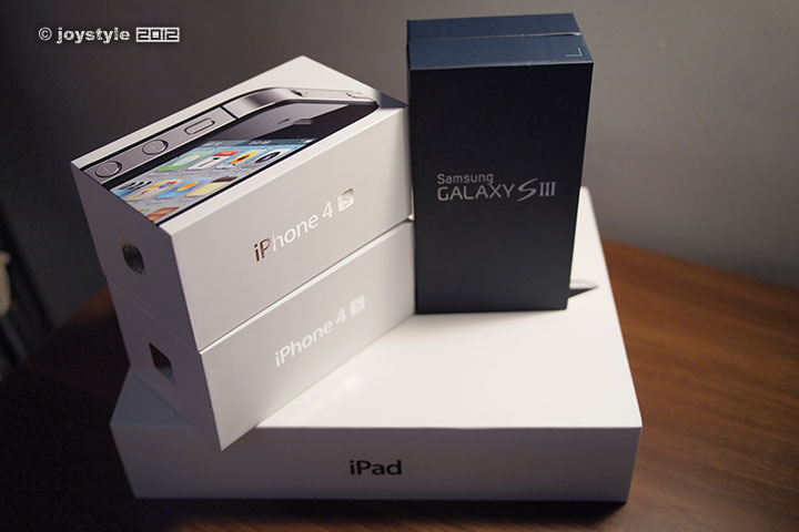 Samsung Galaxy S III & iPhone 4S & new iPad