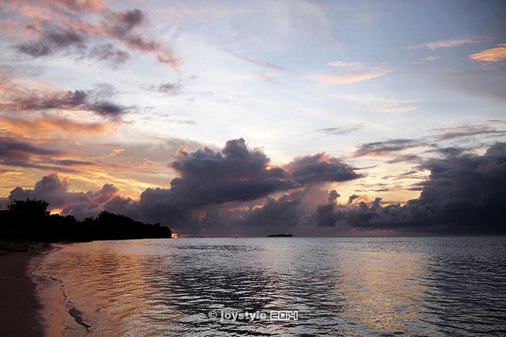 塞班岛 海边日落